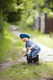 Funny little boy in uniform Royalty Free Stock Photo