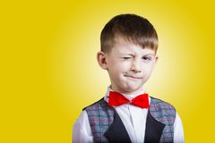 Free Funny Little Boy With One Eye Closed Stock Photos - 127242133