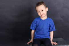 Funny little boy 3-4 year old Royalty Free Stock Photo