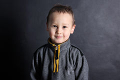Funny little boy 3-4 year old Royalty Free Stock Photography