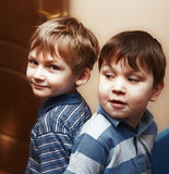 Funny little boys Royalty Free Stock Images