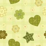 Funny little buttons seamless pattern on checkered background Royalty Free Stock Photo