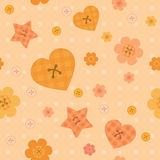 Funny little buttons seamless pattern on dotted background Royalty Free Stock Photography