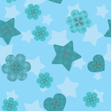 Funny little buttons seamless pattern on evening background Royalty Free Stock Images