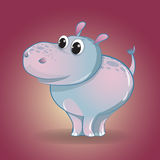 Funny little cartoon Hippo. Children`s character. Funny little cartoon Hippo. Vector children`s character Royalty Free Stock Photo