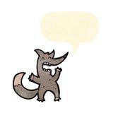 Funny little cartoon wolf Stock Image