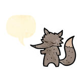Funny little cartoon wolf Royalty Free Stock Photography