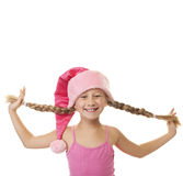 Funny little Christmas girl Royalty Free Stock Photos