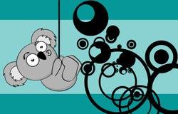 Funny little chubby koala cartoon expression background Royalty Free Stock Photos