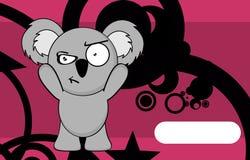 Grumpy chubby koala cartoon expression background Royalty Free Stock Photography