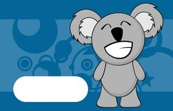 Happy little chubby koala cartoon expression background Royalty Free Stock Images