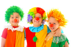 Funny little clowns Royalty Free Stock Image