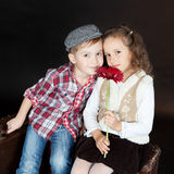 Funny Little Couple in love Royalty Free Stock Images