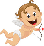 Funny little cupid with bow and arrow Stock Photo