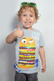 Funny little curly-haired boy 3 Stock Image