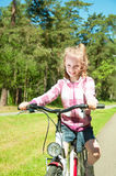 Funny little cyclist Stock Photography