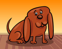 Funny little dog cartoon illustration Royalty Free Stock Photo