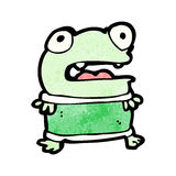 Funny little frog cartoon Royalty Free Stock Photography