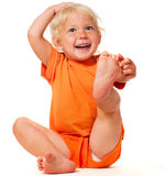 Funny little girl Royalty Free Stock Images