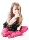 Funny little girl Royalty Free Stock Photos