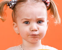 Funny little girl Stock Image