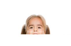 Funny little girl. Little girl looks on during Poster Stock Photography