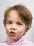 Funny little girl Stock Photography