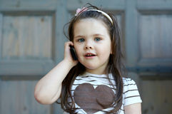 Funny little girl royalty free stock photography