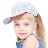 Funny little girl in a cap Royalty Free Stock Images