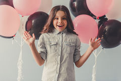 Funny little girl Stock Images