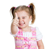 Funny little girl giving you thumbs up Royalty Free Stock Photos