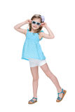 Funny little girl in glasses Royalty Free Stock Photos