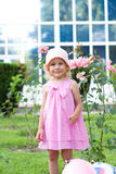 Funny little girl in  park Royalty Free Stock Photo