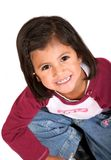 Funny little girl portrait Stock Images