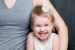 Funny little girl smiling Stock Photos