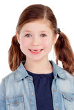 Funny little girl toothless with pigtails Royalty Free Stock Photography