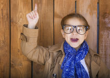 Funny little girl wearing glasses Royalty Free Stock Photos
