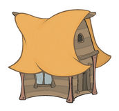 Funny Little House cartoon Royalty Free Stock Photos