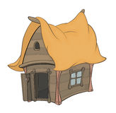Funny Little House cartoon Royalty Free Stock Photo