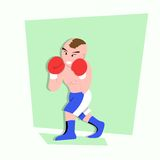 Funny little kids do some boxing style Stock Images