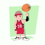 Funny little kids play basketball. S Stock Photo