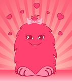 Funny little loving monsters Royalty Free Stock Photography