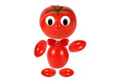 Funny little man made of tomatoes Royalty Free Stock Photos