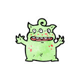 Funny little monster cartoon Royalty Free Stock Images