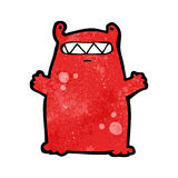 Funny little monster cartoon Royalty Free Stock Image