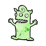 Funny little monster cartoon Stock Images
