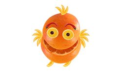 Funny little orange like chicken Royalty Free Stock Images