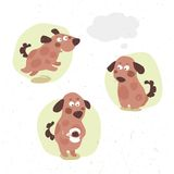 Funny little puppy drinks cocoa Royalty Free Stock Images