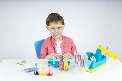 Funny little scientist Royalty Free Stock Photography