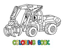 Free Funny Log Handler Car With Eyes Coloring Book Stock Images - 127044214